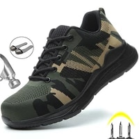 lightweight safety shoes men boots camouflage work shoes construction indestructible shoes work sneakers men boots security