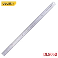 deli dl8050 steel ruler specification 530mmx28 5mm stainless steel measuring tools engraved with formulas and conversion tables
