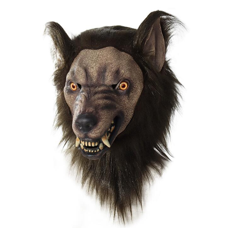 Werewolf Headwear Costume Mask Wolf Supersoft Old Man Adult Face Cover Creepy Party Decoration