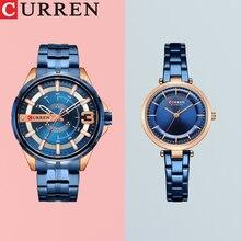 CURREN Couple Watch Men Fashion Quartz Women's Watches Simple Casual Stainless Steel Bracelet Wristw