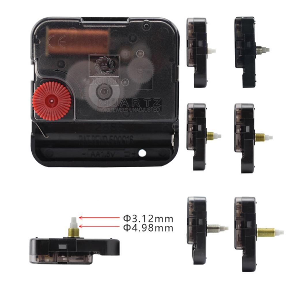Mudo silencioso substituição relógio movimento mecanismo diy quartzo relógio de parede silencioso movimento relógio acessórios kits preto