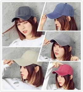 Hat Men'S Spring And Summer Washed Light Version Cowboy Hat Outdoor Solid Color Cap Female Sun Visor Baseball Cap