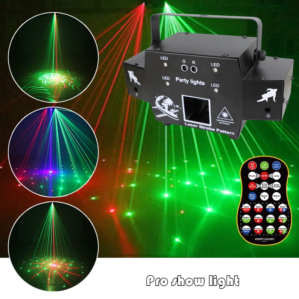 Aircraft Animation Laser Projector 4IN1 Effect DJ Disco Stage Light LED Hybrid Special Effects DMX Control For Bar Party Xmas