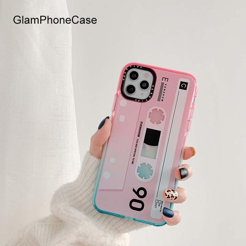 GlamPhoneCase 90 чехол для телефона с магнитной лентой для iPhone11Pro/Max X XS Max XR Мягкий силиконовый чехол для iPhone11 7 8 6 6s Plus