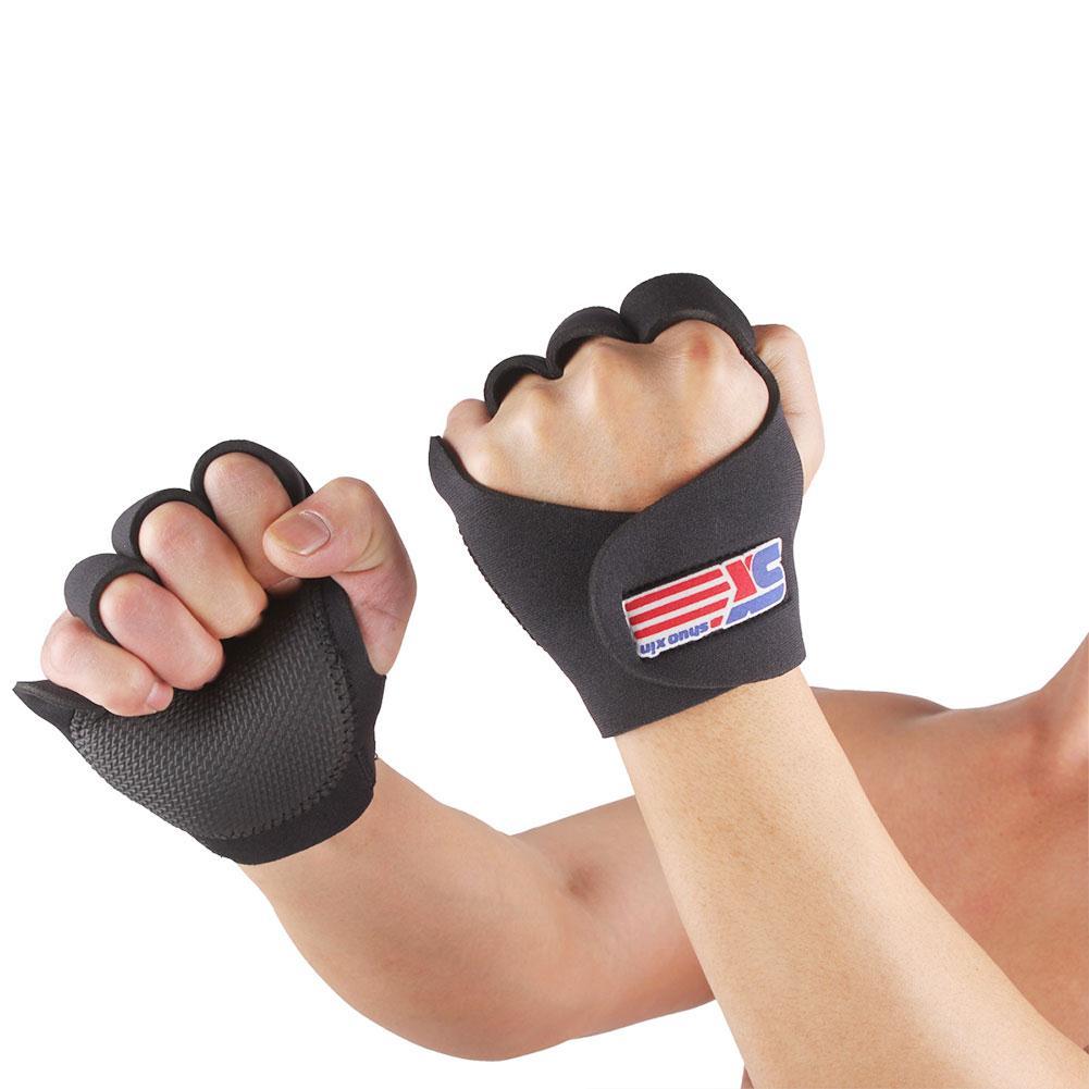 M/l/xl preto envoltório guarda cinta luvas esportivas confortável ajustável apoio à mão ferido elástico respirável ao ar livre levantamento ginásio