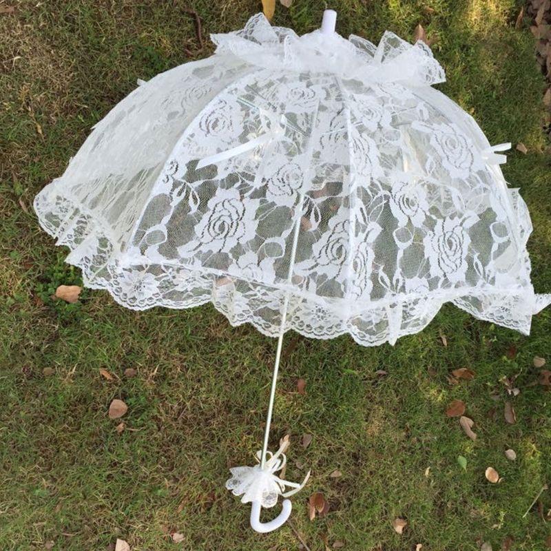 Свадебный кружевной полый зонт свадебное украшение фото реквизит зонты с