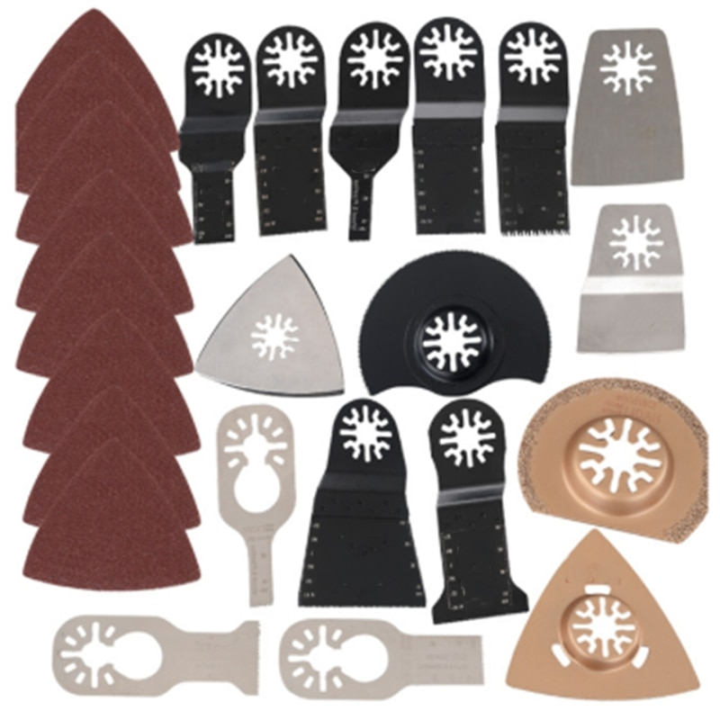 Kit de hoja de sierra multiusos oscilante para Fein Makita, multiherramienta B1, HHO-41Pcs, Accesorios de herramientas eléctricas