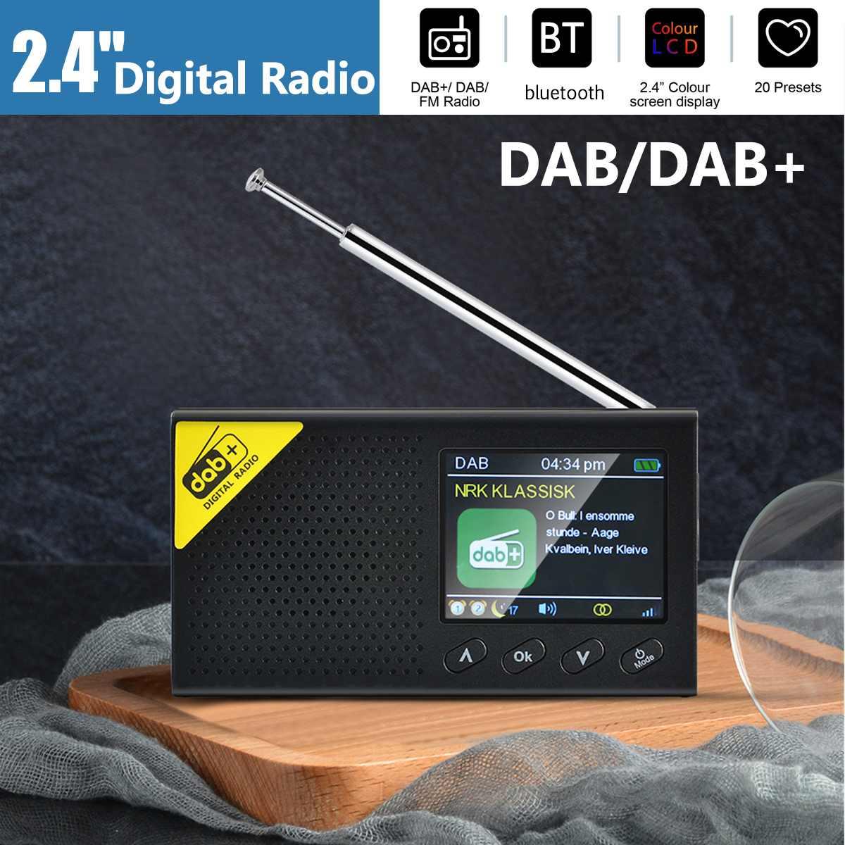 Radio Digital portátil AM FM, altavoz con bluetooth, reproductor MP3 estéreo, Radio...