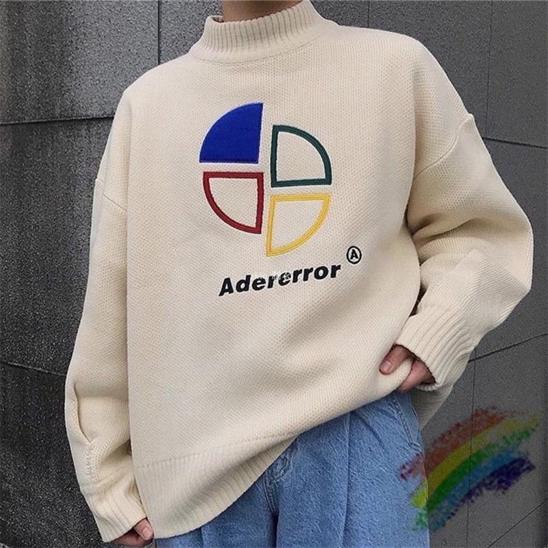 2020FW Loose Adererror Sweater Men Woman 1:1 High Quality Onesize Crewneck Vintage Ader Error Sweater
