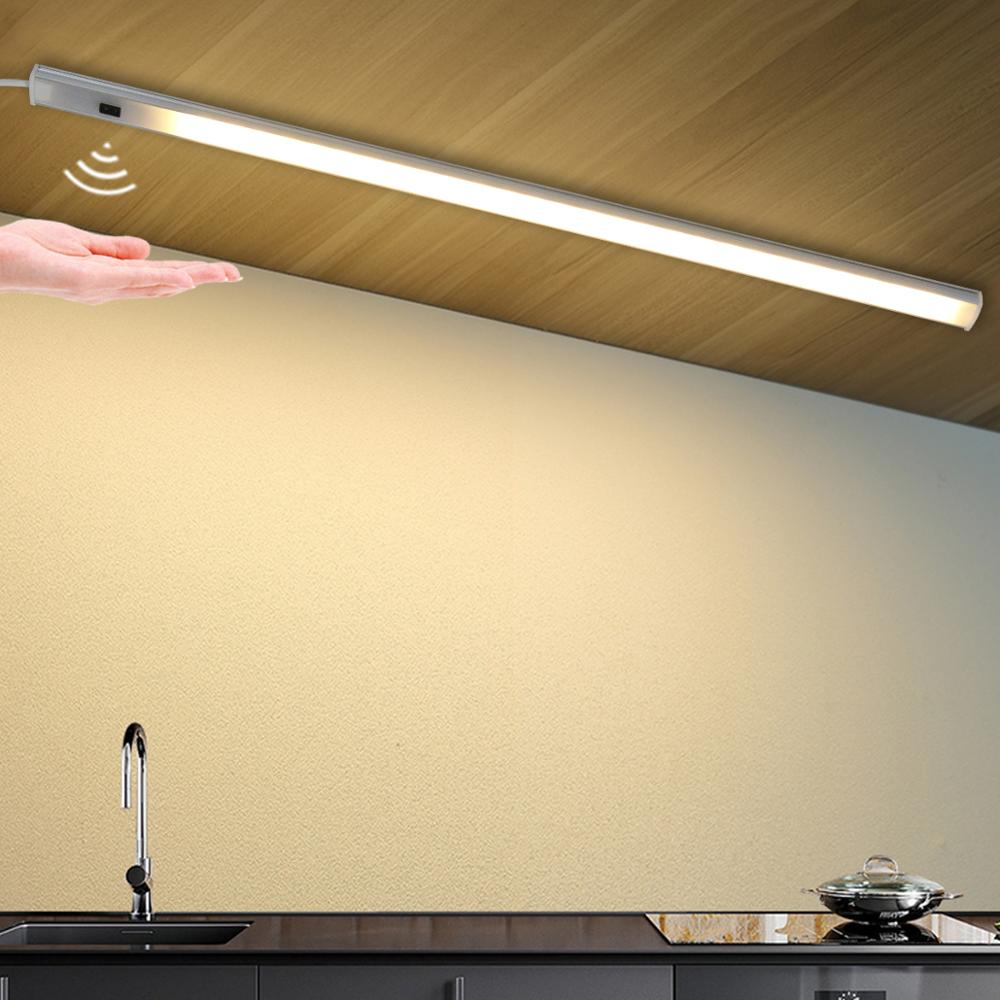 Cuerpo inteligente, Sensor LED inalámbrico, luz nocturna PIR, lámpara LED de movimiento infrarrojo magnético, lámpara de pared de barrido manual de 5V para gabinete, escaleras, sala
