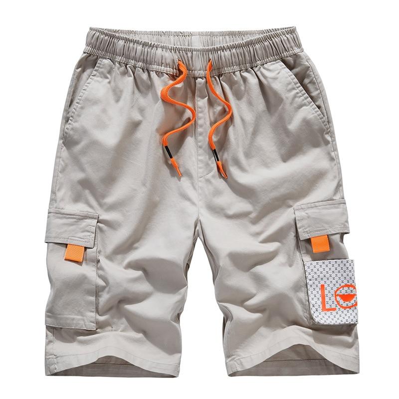 New Men's Shorts Leisure Summer Cotton Men's Fashion Hip Hop Men's Ribbon Design Men's Shorts Men's Shorts Men's Large