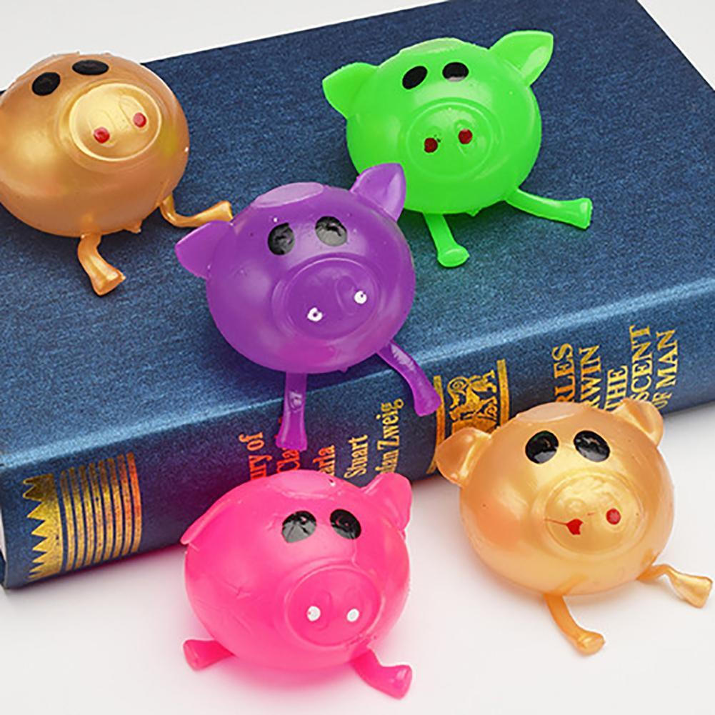 1 個かわいいアンチストレス水豚ボールベントのおもちゃ通気付箋スマッシュスクイズノベルティショッカーギャグジョークいたずらおもちゃギフト子供のための