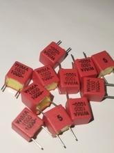 20 sztuk nowy czerwony WIMA FKP2 1NF 1000V 102/1000V 1000PF 1KV PCM5 Audio gorąca sprzedaż FKP-2 5% 102 1000P 0.001UF