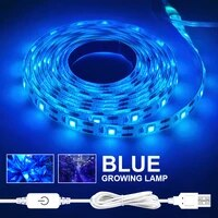 flowers plants vegetables full spectrum led grow touch sweep led plant light strip ice blue growing lamp waterproof hydroponics