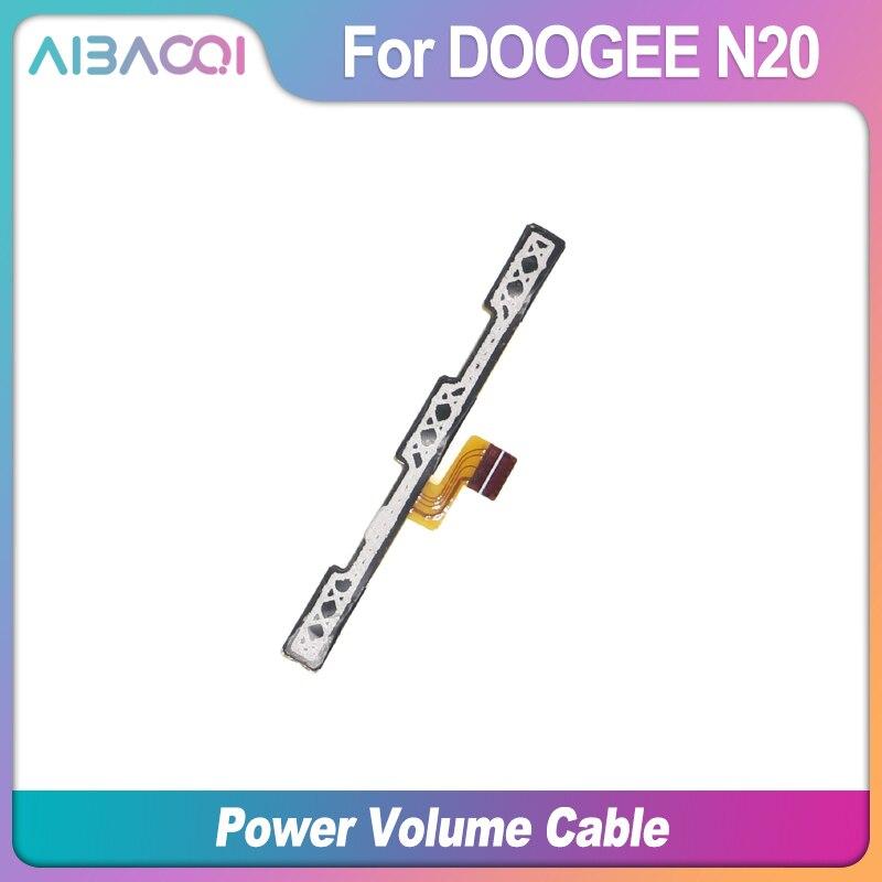 AiBaoQi, nuevo botón de encendido/apagado + volumen FPC arriba/botón de abajo, flex cable FPC para Doogee N20/Y9 Plus