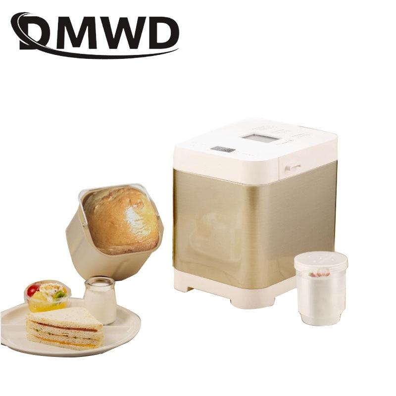 التلقائي متعددة الوظائف صانع خبز صغير ذكي سهل الاستخدام الخبز كعكة الزبادي الحامض آلة صنع الكريم الخبز الاتحاد الأوروبي الولايات المتحدة