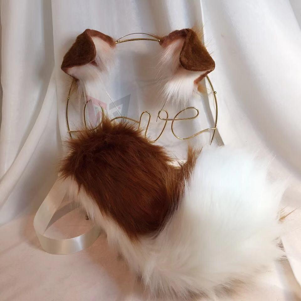 MMGG-أغطية رأس لأذن كولي ذات حدود جديدة ، وإكسسوارات تنكرية للكريسماس والهالوين