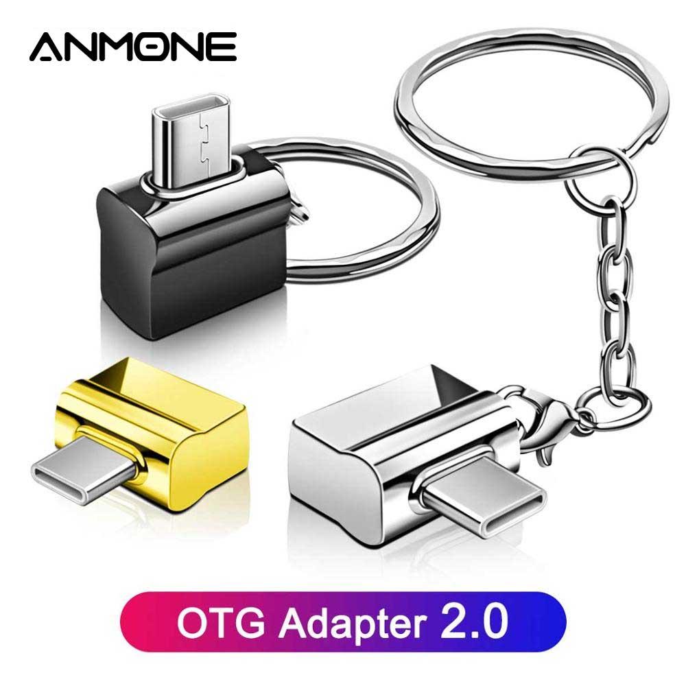 Usb tipo c otg adaptador tipo c ao conversor de usb com corrente chave do metal otg tipo-c usb c adaptador rato teclado disco flash