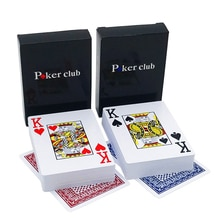 New Hot 2 Sets/Lot Baccarat Texas Holdem Cartes À Jouer En Plastique Étanche Glaçage Poker Carte Conseil Pont Jeu 63*88mm qenueson