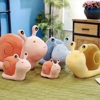 20 65cm colourful snails plush toy stuffed animals cute cartoon snail soft doll pillow kids toys snails plush toy birthday gift