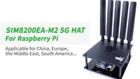 sim8200ea m2 5g hat for raspberry pi support 5g4g3g snapdragon x55 onboard multi mode multi band with antennas
