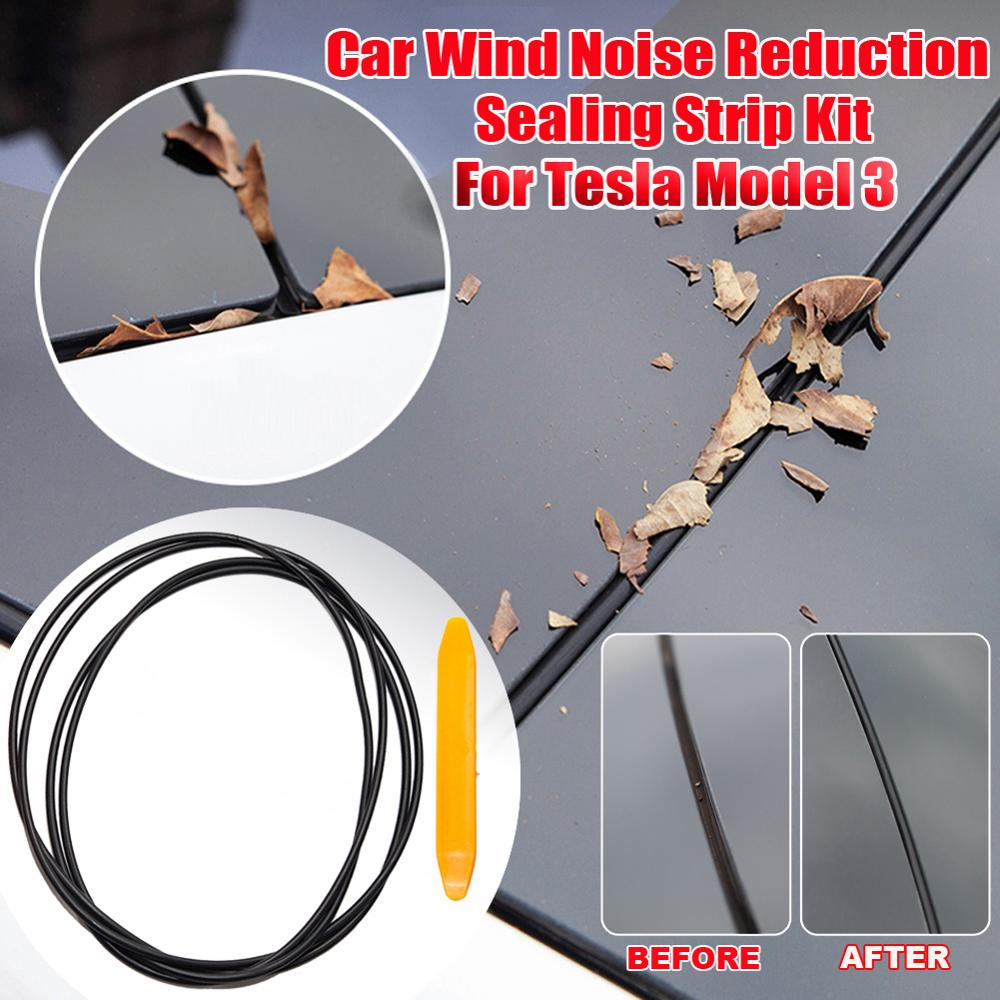 2.4M Windshield Rubber Seal Front Rear Sunroof Strips Dustproof Sealing Strip For Auto Car Dashboard