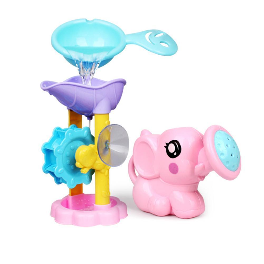 Kawaii Elephant Shower Pool Toys Baby Bathroom Swimming Pool Toys Interactive Parent-child Water Toy Elephant Beach Bathing