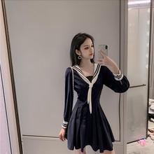 2019 Herfst Nieuwe Lolita Japanse Marine Kraag Sailor Jurk College Elegante Zoete Jurk Retro JK Uniform Party Vestidos