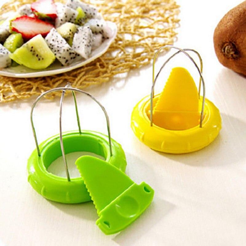 Utensilio de cocina duradero cortador de frutas Kiwi multifuncional cortador de cáscara de fruta Kiwi 2
