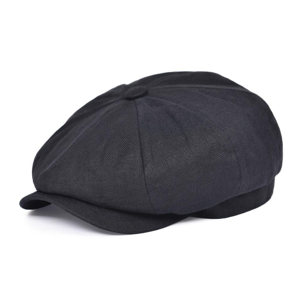 BOTVELA Newsboy Кепка летняя мужская и женская льняная Кепка с узором в елочку Кепка легкая дышащая плоская шляпа берет шапки 007