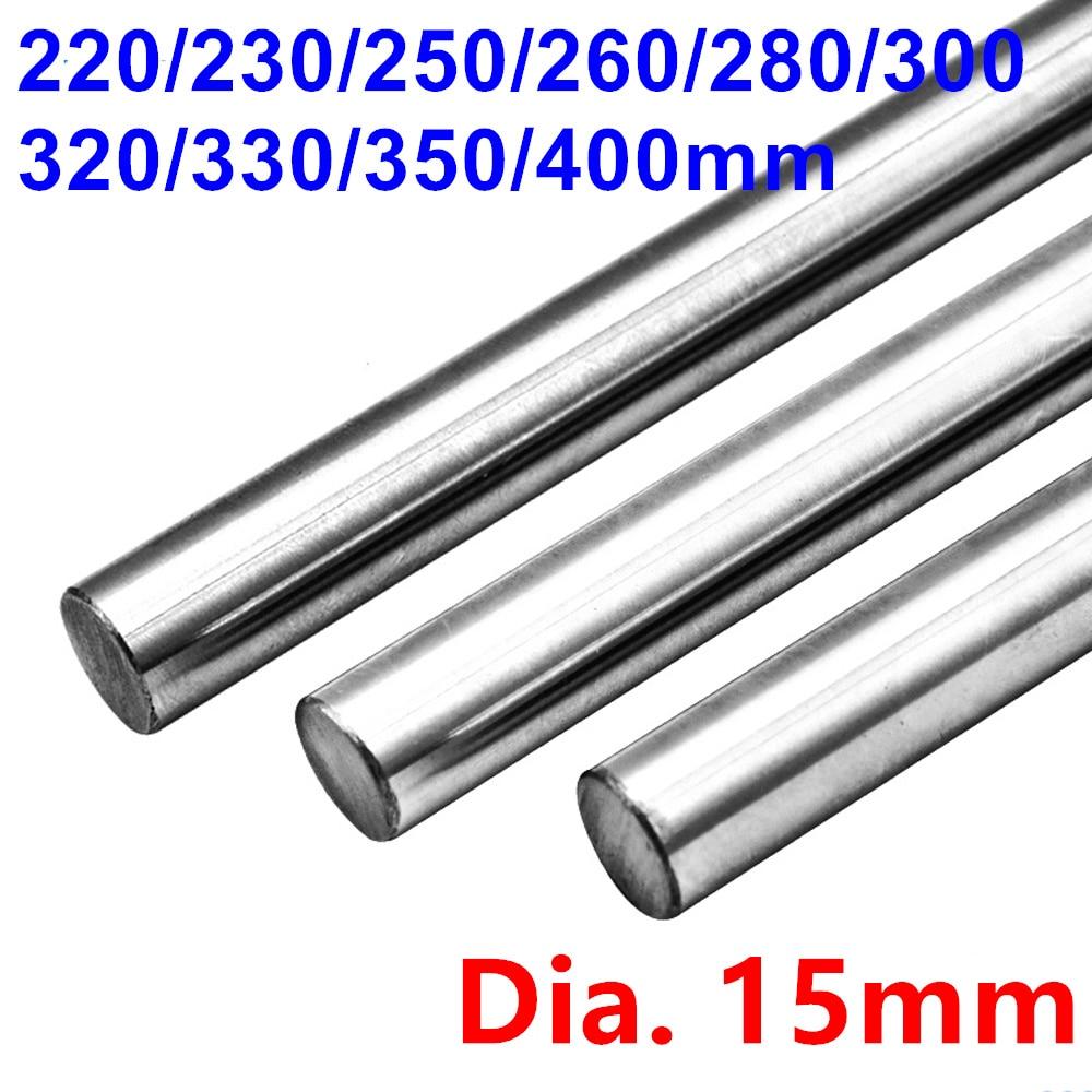 Cylinder Liner Rail Eixo Eixo Óptico 15 Diâmetro Mm 220/230/250/260/280/300 320/330/350/400mm Temperado Suave Hastes Barra Redonda