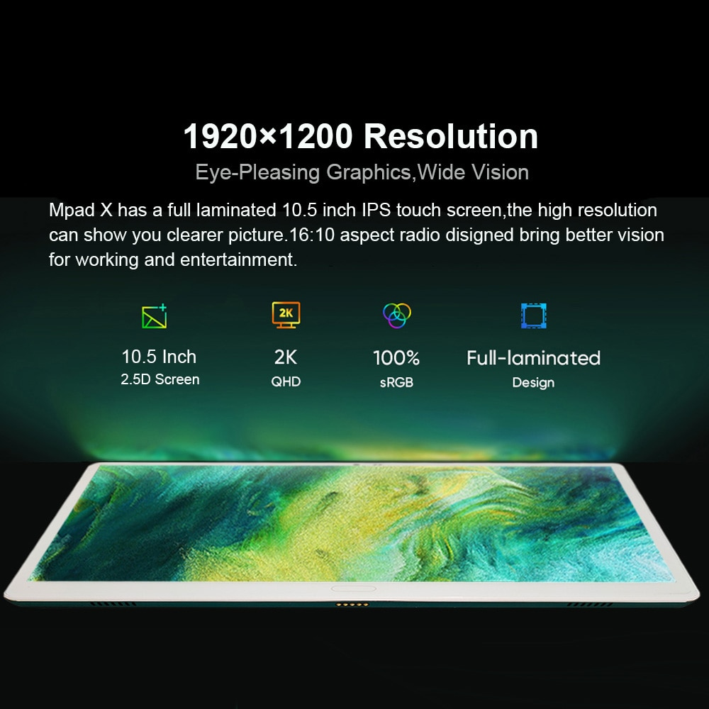 Face ID Tablet 2 In 1 Android 4G Phone Tablet 10.5 Inch Office Tablet With Keyboard 1920*1200 FHD Screen 13MP Dual SIM Card enlarge