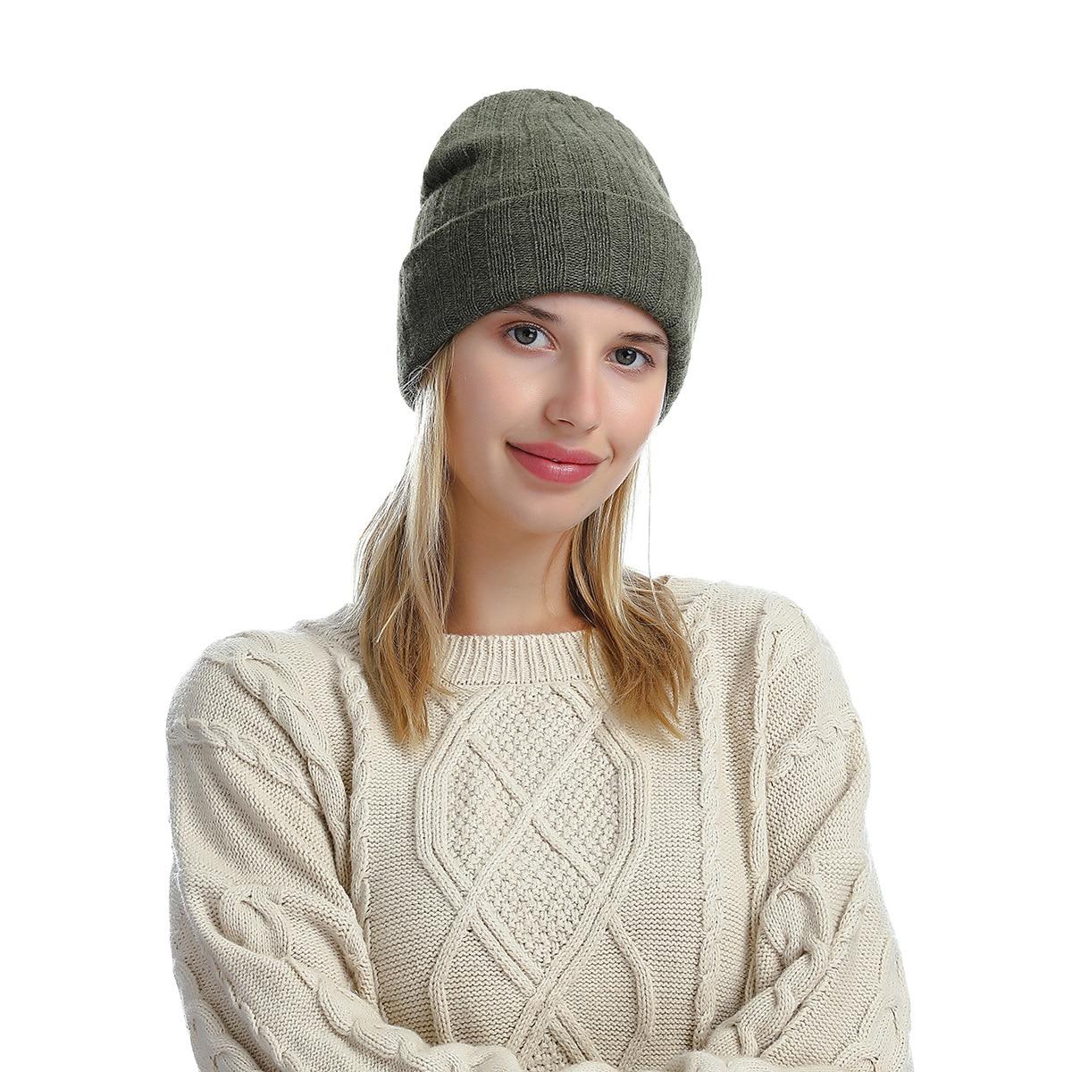 Зимняя шапка, вязаная шерстяная шапка, шапки для женщин, осенняя хлопковая шапка, шапка, Повседневные шапки с узором, оптовая продажа, зимние...
