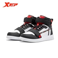 xtep winter childrens sports shoes high top flat heel trend shoes round toe womens warm and velvet mens shoes 680416379875