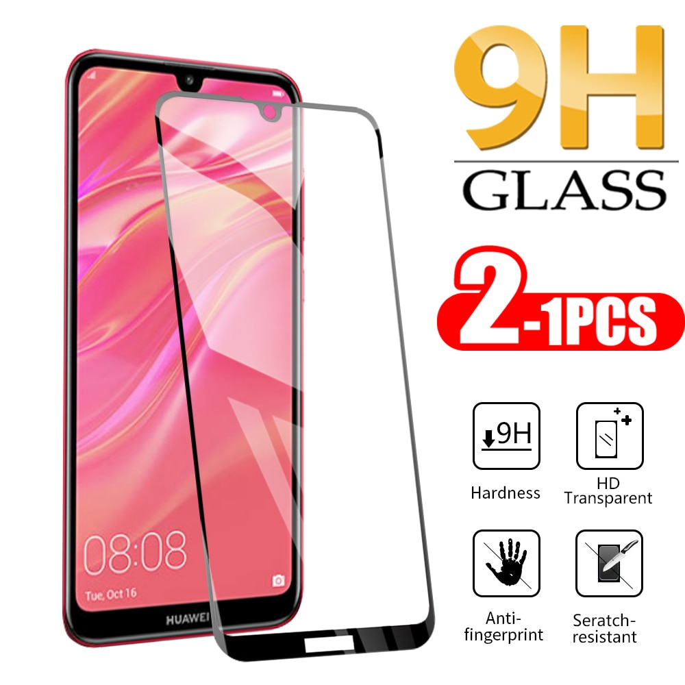 Safety Glass 1-2PCS For Huawei Y7 Pro 2019 Screen Protector On For huawei y7 pro 2019 Protector Temp