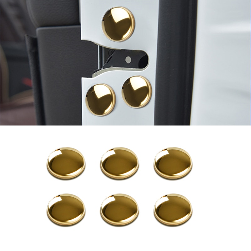 12 pçs fechadura da porta do carro parafuso protetor capa para kia sportage forte sorento alma k2 k3 k4 k5 k3s kx5 acessórios do carro
