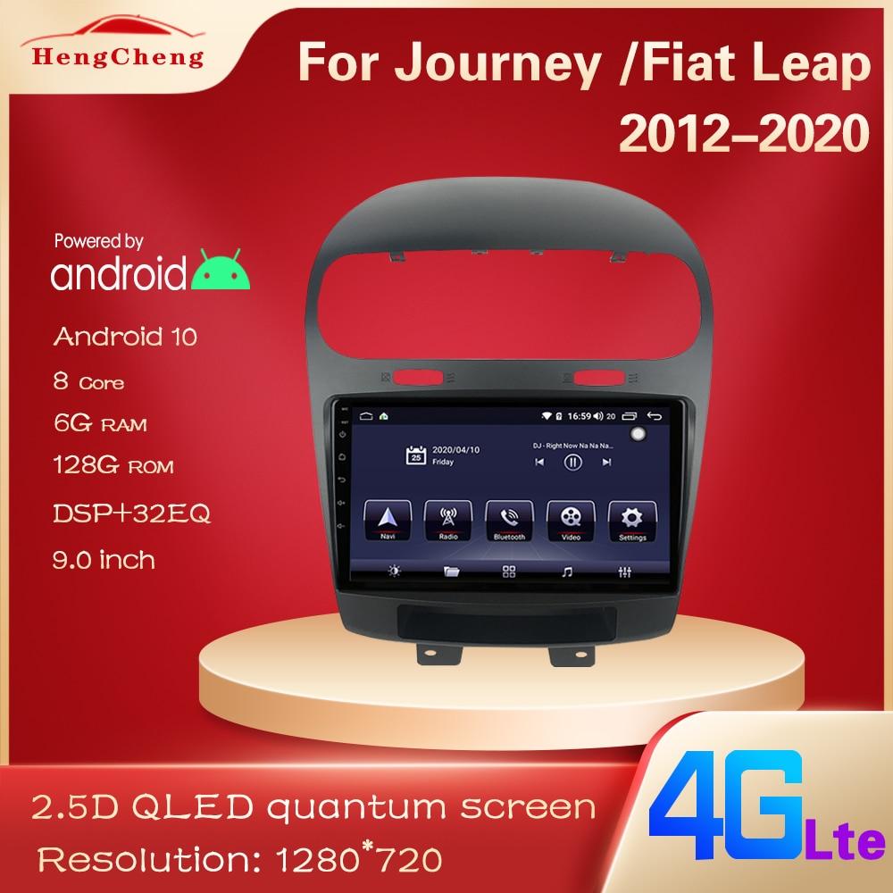 Für Dodge Journey Fiat Leap Auto Multimedia-Player 2012-2020 Dodge Journey Fiat Leap GPS Navigation Radio Player 4G Volle Netcom