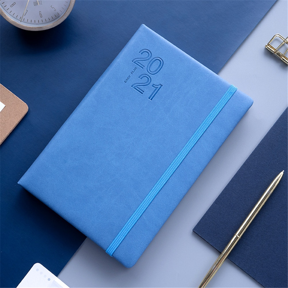 English Agenda 2021 Planner Organizer A5 Diary Notebook and Journal Office Notepad Weekly Monthly Calendar Daily Plan Note Book 2021 planner agenda organizer a5 diary plan notebook and journal office note book weekly calendar daily schedule school notepad