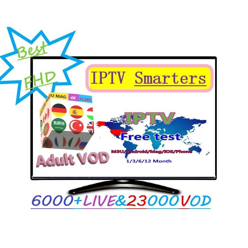 IPTV 5000 francés sueco en vivo IPTV irán Pakistán sueco polaco Suiza alemán danés Deportes + adulto M3U 1/3/6/12 meses