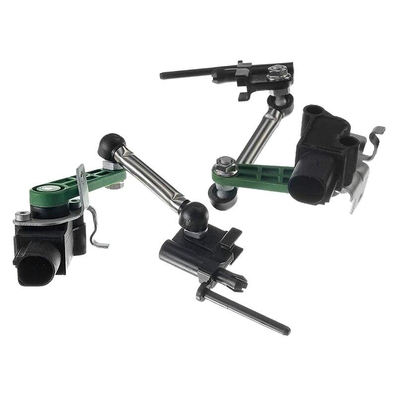 2Pcs Headlight Level Sensor Body Suspension Height Sensor for A udi Touareg 7P0616213 7P0616214