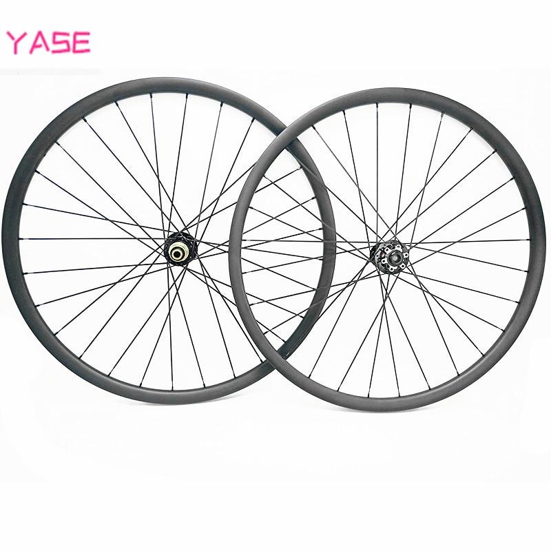 YASE 27.5er carbone vtt disque roues XC 30x24mm asymétrie tubeless vélo roues NOVATEC D791SB-D792SB 100x15 142x12 vélo roue