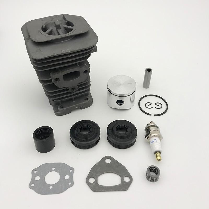 Hundure 38mm cilindro pistão anel rolamento junta do motor reconstruir kit para husqvarna 142 141 137 136 motosserra peças de reposição
