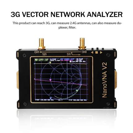 3G S-A-A-2 NanoVNA V2 ناقلات شبكة محلل الرقمية نانو VNA تستر MF HF VHF UHF USB المنطق هوائي محلل الدائمة موجة
