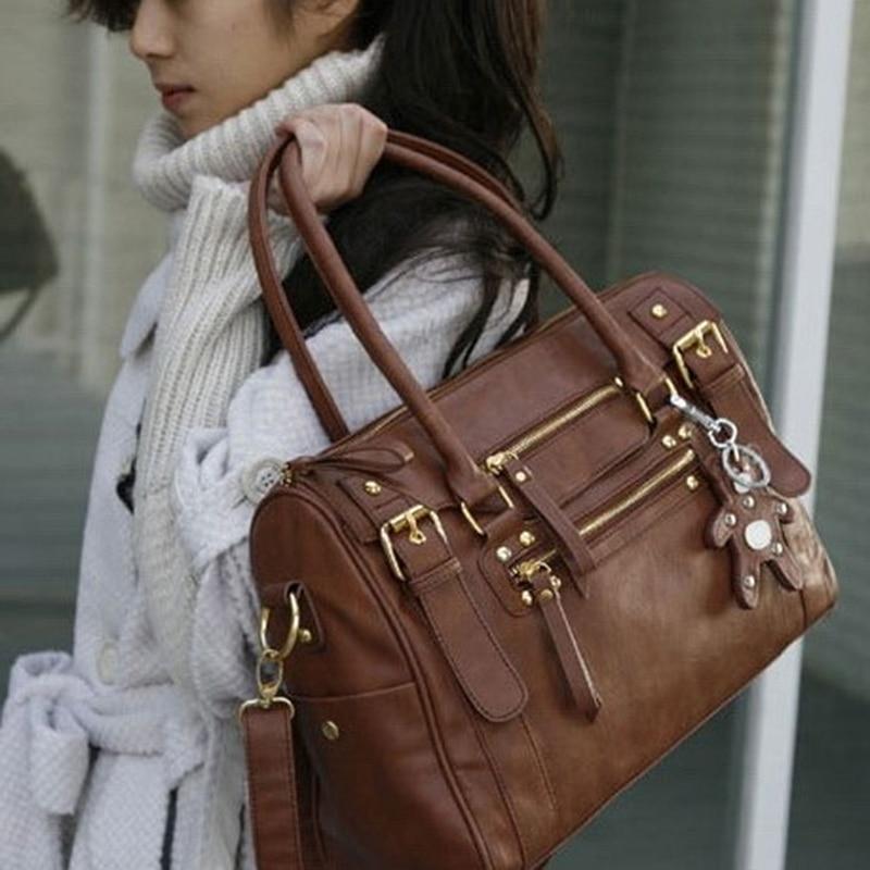 Women's Handbag Vintage Belt Bear Big Tote female Shoulder Bag Messenger Casual Bag Luxury Brand Leather Crossbody Bags Ladies