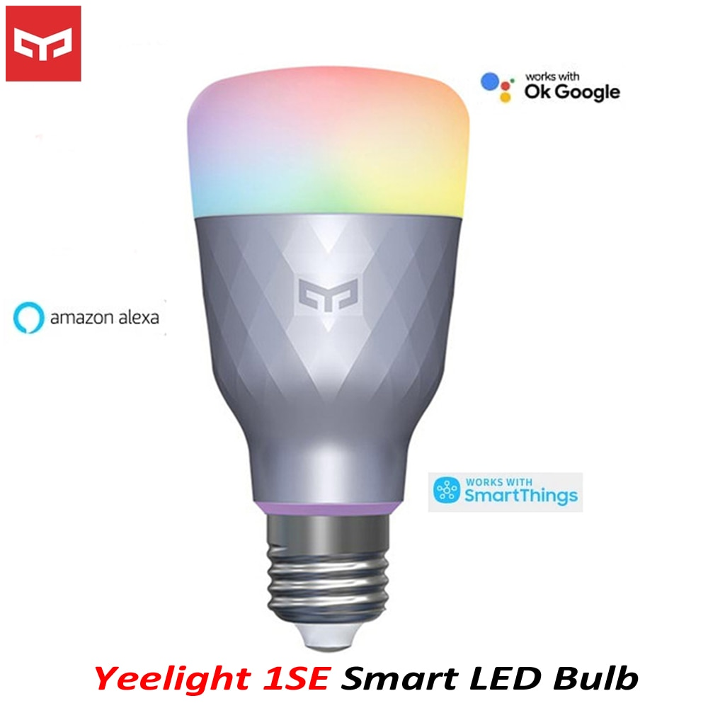 2020 novo yeelight 1se e27 6w rgbw ac 100 240v inteligente lâmpada led controle remoto inteligente led luz colorida temperatura controle de voz Controle remoto inteligente    -