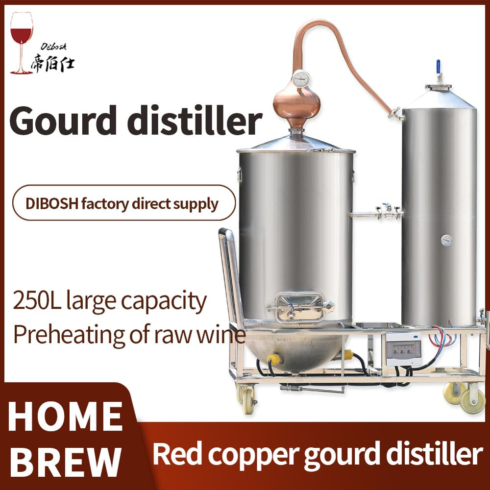 250L cobre rojo de la calabaza de la Luna a gran escala licor destilador cerveza Whisky Vodka Brandy la piel Extracto de destilación Kit