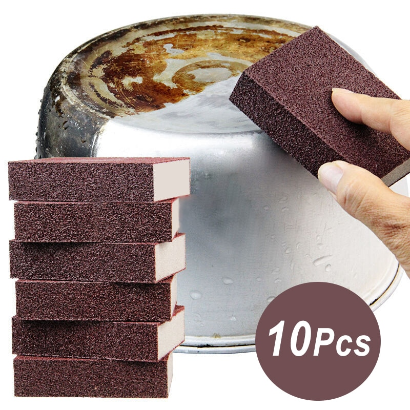 Sponge Magic Eraser Carborundum Removing Rust Cleaning Brush Descaling Emery Clean Rub for Cooktop Pot Kitchen Tools Gadgets