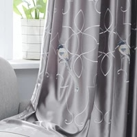 the new chinese high precision stitching embroidered curtain screens simple and stylish living room bedroom curtains