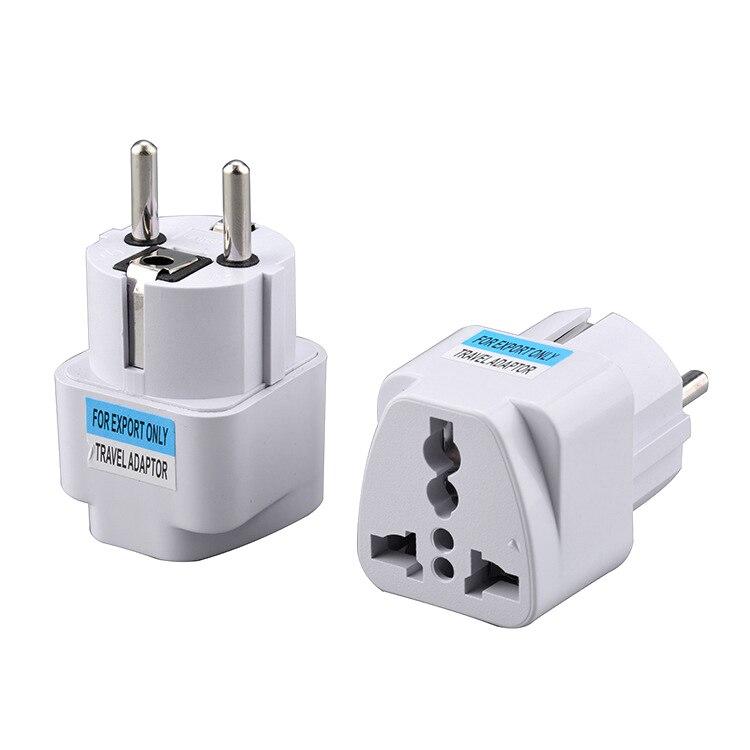 1PC Universal EU German Conversion Plug Two Hole Design Universal Conversion Power Socket White Travel Conversion Plug TSLM1