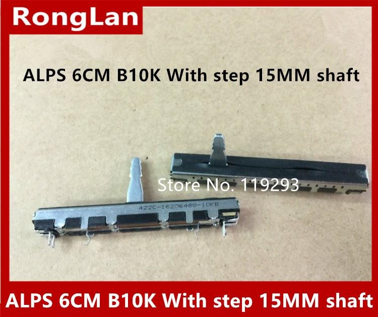 Japan ALPS  6 cm 60MM Slide Potentiometer 449C-09369034 10KB associated with a single step 15MM hanlde-10PCS
